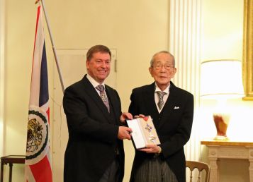Kazuo Inamori, Global Entrepreneur and Philanthropist, Receives Honorary Knighthood from HM the Queen Elizabeth
